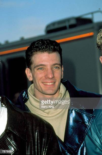 Joshua Scott JC Chasez of N'sync arrives at the American Music Awards January 11 1999 in Los Angeles CA