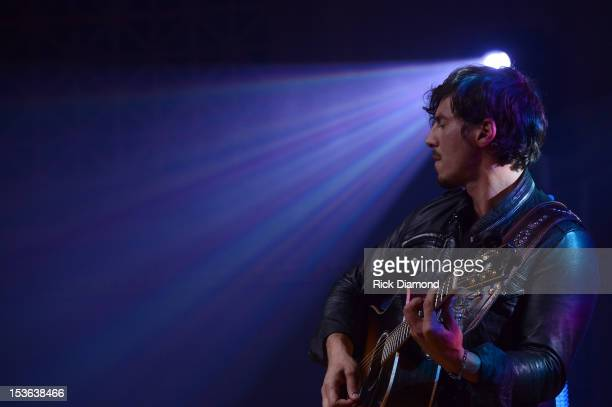 Joshua Scott Jones of Steel Magnolia perform during APA Party at IEBA Conference Day 1 at the War Memorial Auditorium on October 7 2012 in Nashville...