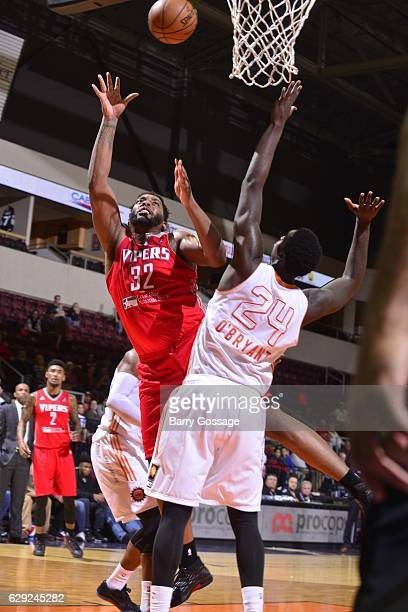 Joshua Smith of the Rio Grande Valley Vipers shoots against Johnny OBryant of the Northern Arizona Suns on December 9 at Prescott Valley Event Center...