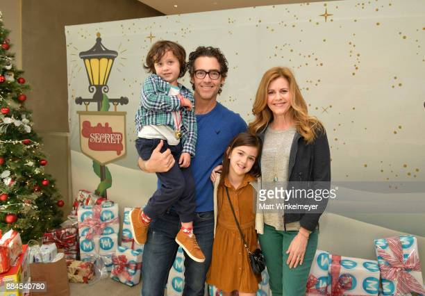 Joshua Taylor Fortson John Fortson Abby Ryder Fortson and Christie Lynn Smith at the 7th Annual Santa's Secret Workshop benefiting LA Family Housing...