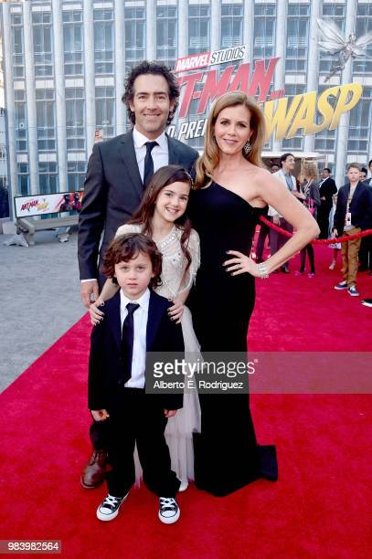 Joshua Taylor Fortson John Fortson Actor Abby Ryder Fortson and Christie Lynn Smith attend the Los Angeles Global Premiere for Marvel Studios' AntMan...