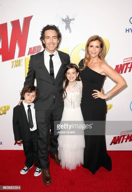 Joshua Taylor Fortson John Fortson Actor Abby Ryder Fortson and Christie Lynn Smith attend the Los Angeles Global Premiere for Marvel Studios'...