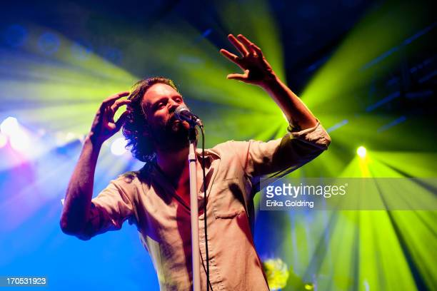 Joshua Tillman aka Father John Misty performs during the 2013 Bonnaroo Music Arts Festival on June 13 2013 in Manchester Tennessee