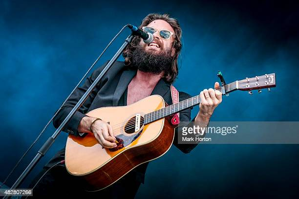 Joshua Tillman aka Father John Misty performs on Day 3 of the Osheaga Music and Art festival on August 2 2015 in Montreal Canada