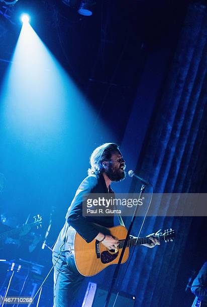 Joshua Tillman aka Father John Misty performs on stage at Variety Playhouse on March 26 2015 in Atlanta Georgia