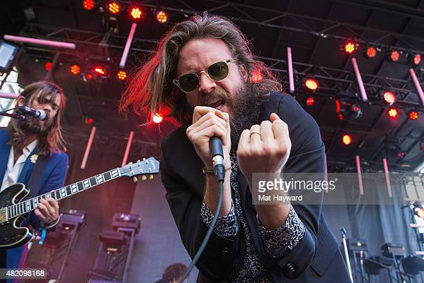 Joshua Tillman of Father John Misty performs on stage during the Capitol Hill Block Party on July 26 2015 in Seattle Washington
