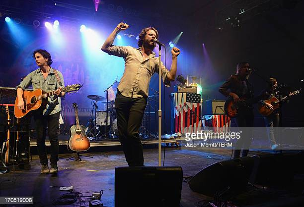 Joshua Tillman of Father John Misty performs onstage at That Tent during day 1 of the 2013 Bonnaroo Music Arts Festival on June 13 2013 in Manchester...
