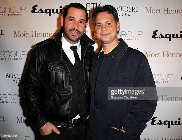 Joshua Wagner and Jason Binn attends the STK Miami Beach grand opening hosted by The One Group and Esquire Magazine at STK on January 12 2010 in...