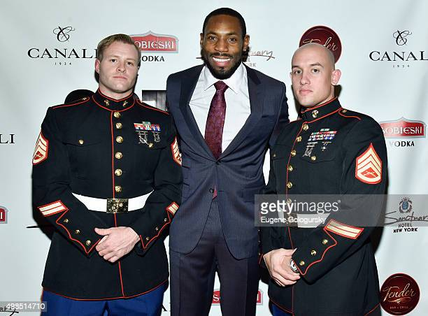 Joshua Wallace Antonio Cromartie and Joshua Wallace attend the GOTHAM Men's event with host Antonio Cromartie at Tender Restaurant in The Sanctuary...