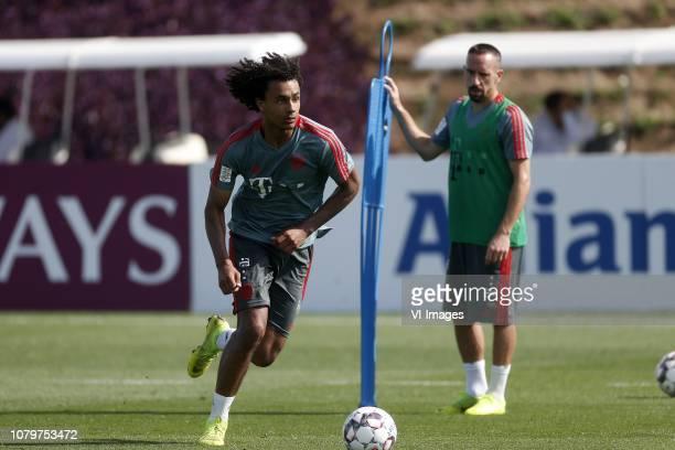 Joshua Zirkzee of Bayern Munchen Franck Ribery of Bayern Munchen during the training camp of Bayern Munchen at the Aspire Academy on January 09 2019...