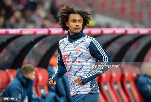 Joshua Zirkzee of FC Bayern Muenchen looks on during a friendly match between 1 FC Nuernberg and FC Bayern Muenchen at MaxMorlockStadion on January...