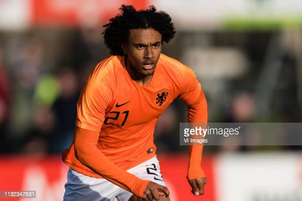 Joshua Zirkzee of Holland U19 during the Elite round Group 4 match between Holland U19 v Slovenie O19 at the Sportpark Marsdijk on March 23 2019 in...