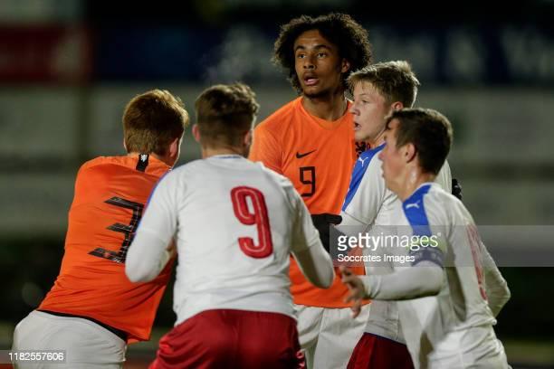 Joshua Zirkzee of Holland U19 during the U19 Men match between Holland U19 v Czech Republic U19 at the Sportpark Nieuw Zuid on November 14 2019 in...