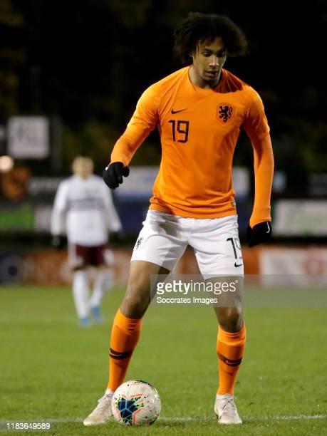 Joshua Zirkzee of Holland U19 during the U19 Men match between Holland U19 v Mexico U19 at the Sportpark Juliana on November 19, 2019 in...