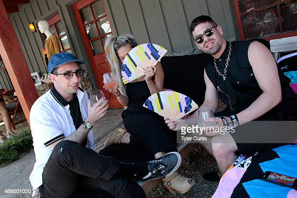 Joshua Zucker Allison Trusty and F Virtue attend The Retreat At The Sparrows Lodge on April 12 2015 in Palm Springs California