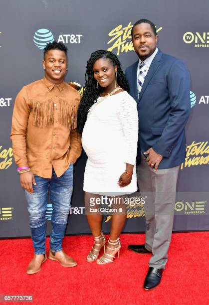 Joshua's Troop arrives at the 32nd annual Stellar Gospel Music Awards at the Orleans Arena on March 25 2017 in Las Vegas Nevada