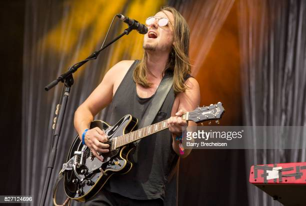 Josiah Johnson of The Head and the Heart performs at Grant Park on August 5 2017 in Chicago Illinois