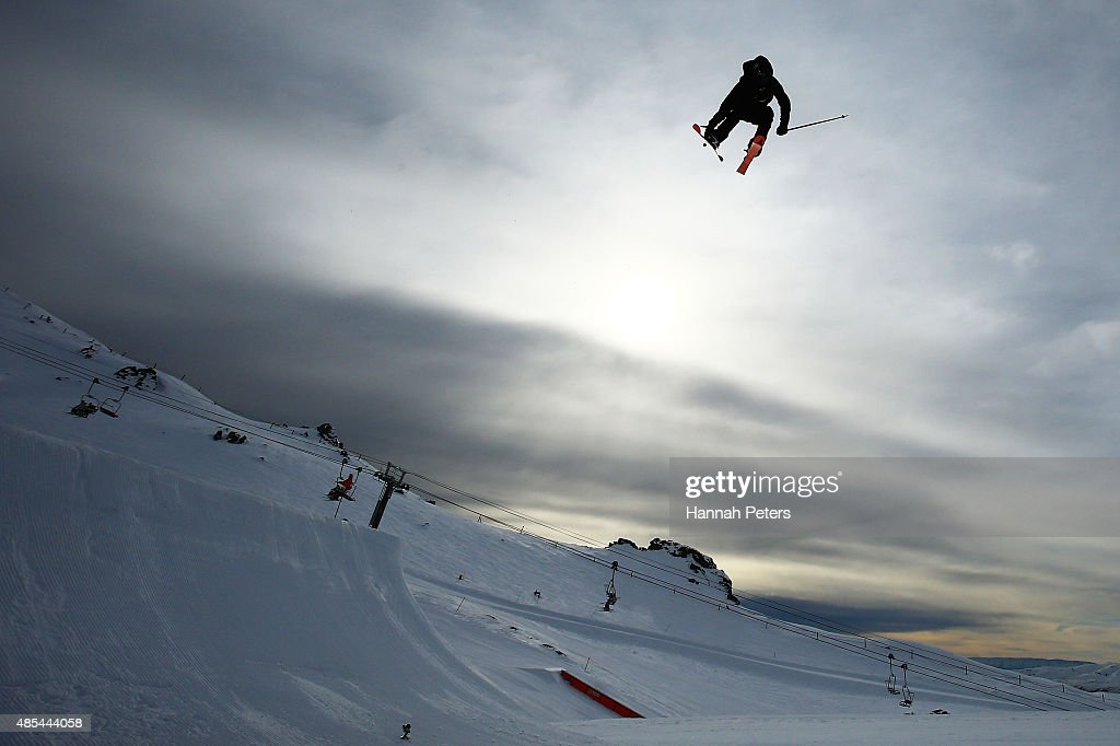 Josiah Wells of New Zealand competes in the FIS Freestyle Ski World Cup Slopestyle Finals during the Winter Games NZ at Cardrona Alpine Resort on August 28, 2015 in Wanaka, New Zealand.
