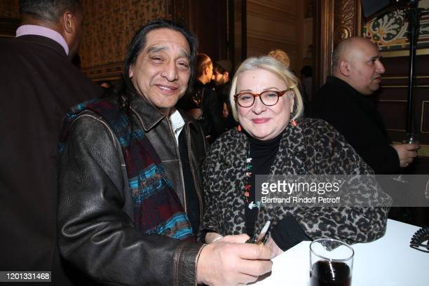 Josiane Balasko and her husband George Aguilar attend the Jean-Paul Gaultier Haute Couture Spring/Summer 2020 show as part of Paris Fashion Week at...