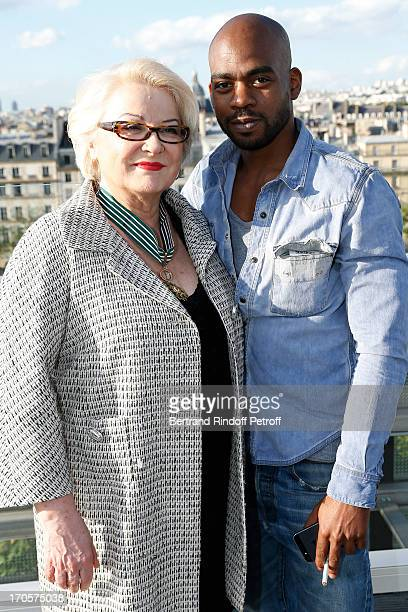 Josiane Balasko and her son Rudy Berry - Actress Josiane Balasko receives the Medal of Arts and Letters from the president of Arab World Institute...