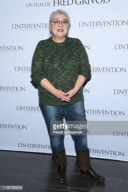 "Josiane Balasko attends ""L'intervention"" Paris Premiere at Mk2 Bibliotheque on January 28, 2019 in Paris, France."