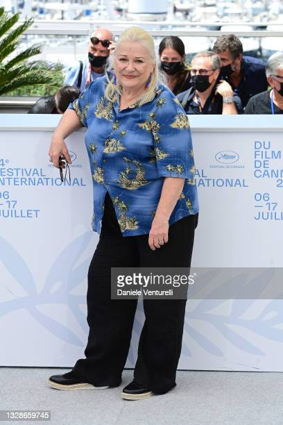 """Josiane Balasko attends the """"Tralala"""" photocall during the 74th annual Cannes Film Festival on July 14, 2021 in Cannes, France."""