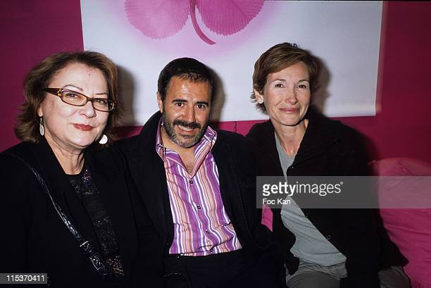Josiane Balasko, Jose Garcia, Isabelle Dorval during Keep Lucky Cocktail Party - Hosted By Marionnaud at Marionnaud Champs Elysee in Paris, France.