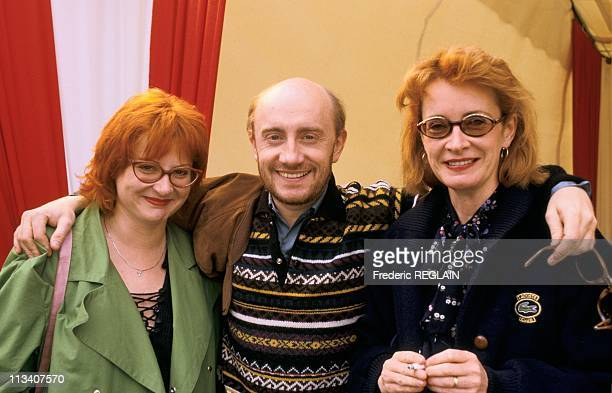 Josiane Balasko Michel Blanc And Dominique Lavanant On May 17th 1987 In France