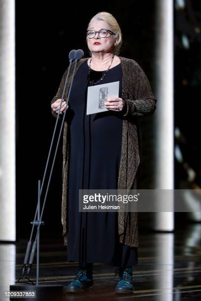 Josiane Balasko on stage during the Cesar Film Awards 2020 Ceremony At Salle Pleyel In Paris on February 28 2020 in Paris France