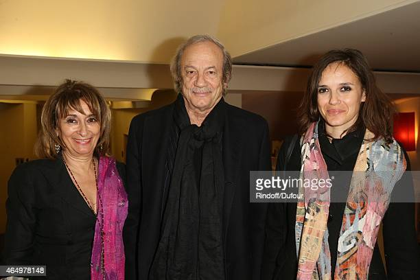 Josiane Stoleru Patrick Chesnais and Emilie Chesnais attend the 'Talking to the TreesRetour a la Vie' Paris screening at Cinema l'Arlequin on March...