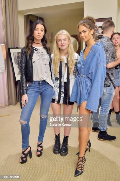 Josie August Anais Gallagher and Chloe Heath attend Diesel Presents Scott Lipps Photography Exhibition 'Rocks Not Dead' at Sunset Tower on June 28...
