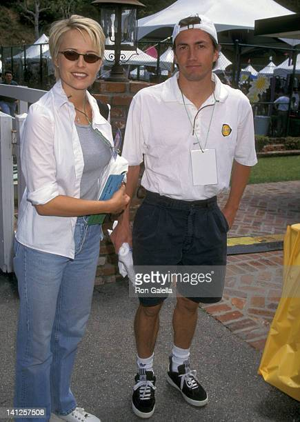 Josie Bissett and Andrew Shue at the 9th Annual A Time for Heroes Celebrity Carnival Benefit Elizabeth Glaser Pediatric AIDS Foundation Home of Ken...