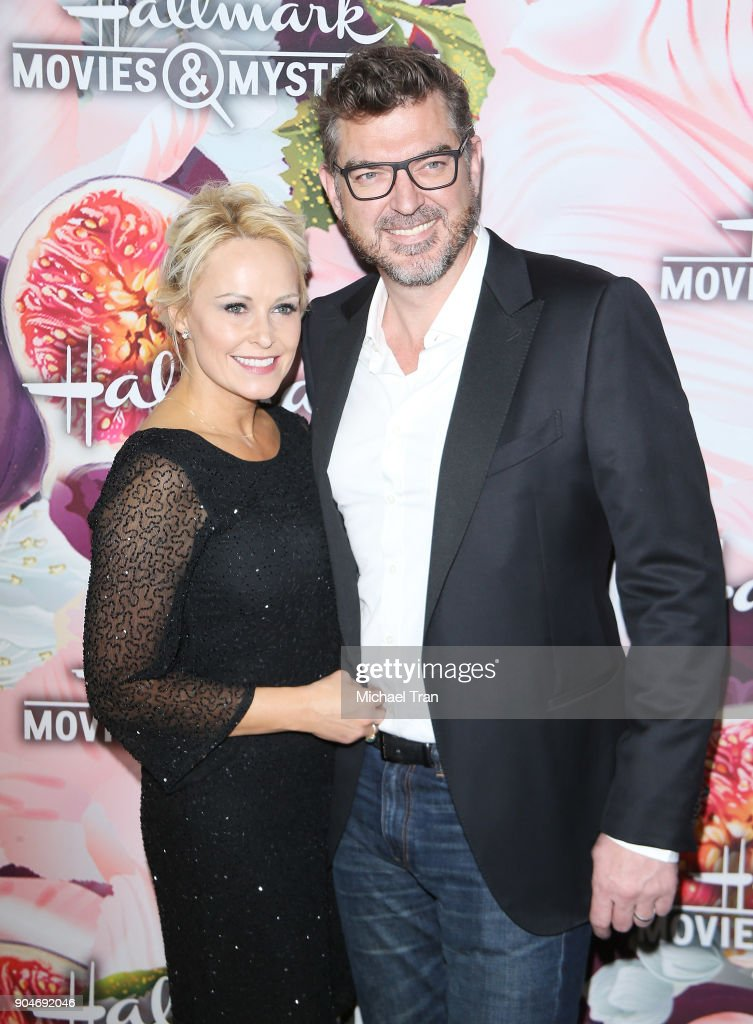 Josie Bissett and Thomas Doig arrive to the Hallmark Channel and Hallmark Movies and Mysteries Winter 2018 TCA Press Tour held at Tournament House on January 13, 2018 in Pasadena, California.
