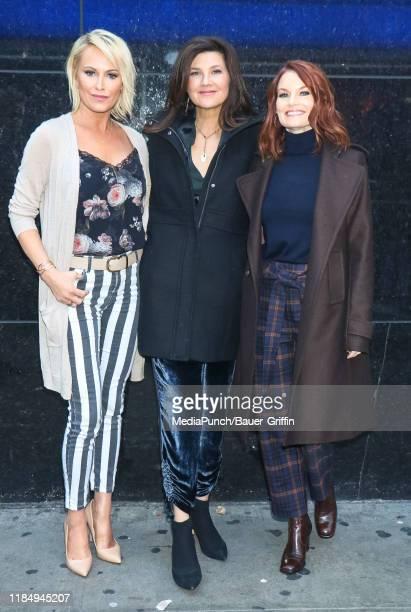 Josie Bissett Daphne Zuniga and Laura Leighton are seen on November 26 2019 in New York City