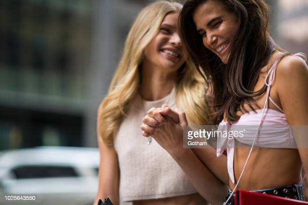 Josie Canseco and Charlotte D'Alessio attend casting for the 2018 Victoria's Secret Fashion Show in Midtown on August 31 2018 in New York City