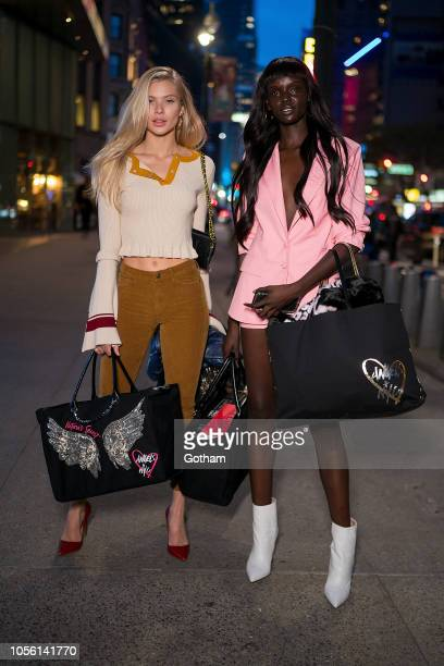 Josie Canseco and Duckie Thot attend fittings for the 2018 Victoria's Secret Fashion Show in Midtown on November 1 2018 in New York City