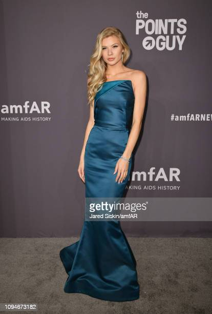 Josie Canseco attends the amfAR New York Gala 2019 at Cipriani Wall Street on February 6 2019 in New York City