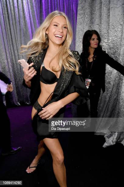 Josie Canseco poses backstage during the 2018 Victoria's Secret Fashion Show at Pier 94 on November 8 2018 in New York City