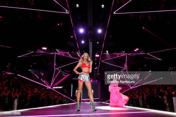 Josie Canseco walks the runway during the 2018 Victoria's Secret Fashion Show at Pier 94 on November 8 2018 in New York City