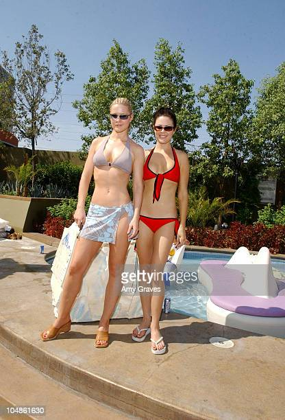 Josie Davis and Christa Campbell during Stuff Magazine Palms Casino Weekend Keystone Light Pool Party at Skin in Las Vegas Nevada United States