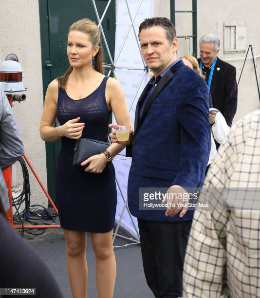 Josie Davis and Tom Malloy are seen on June 1 2019 in Los Angeles California