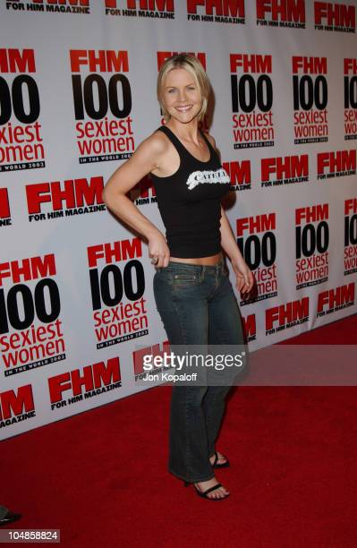 Josie Davis during FHM's 100 Sexiest Women in the World Party CoSponsored by Smirnoff Vodka at Raleigh Studios in Hollywood California United States