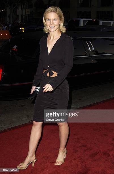 Josie Davis during Windtalkers Premiere at Grauman's Chinese Theatre in Hollywood California United States