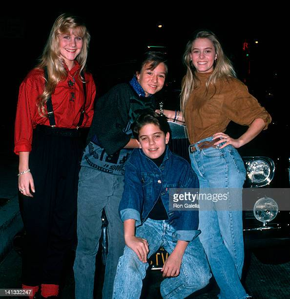 Josie Davis Justin Whalin Alexander Polinsky and Nicole Eggert at the Los Angeles MADD KickOff Party Los Angeles Cafe Los Angeles
