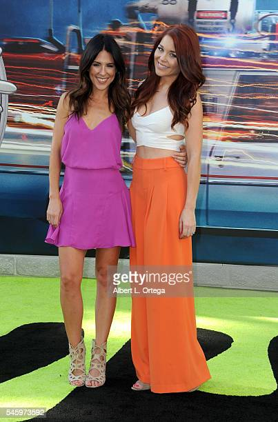 Josie Day and Erin Robinson arrive for the Premiere Of Sony Pictures' 'Ghostbusters' held at TCL Chinese Theatre on July 9 2016 in Hollywood...