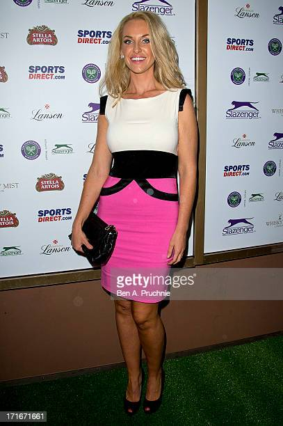 Josie Gibson attends party hosted by Slazenger during the Wimbledon tennis championships at Whisky Mist on June 27 2013 in London England