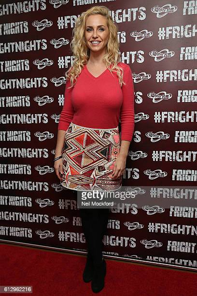 Josie Gibson attends the launch of Thorpe Park's Fright Nights at Thorpe Park on October 6 2016 in Chertsey England