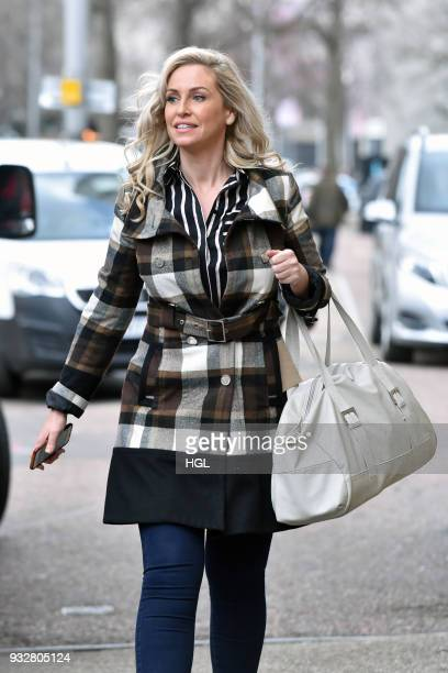Josie Gibson seen outside the ITV Studios on March 16 2018 in London England