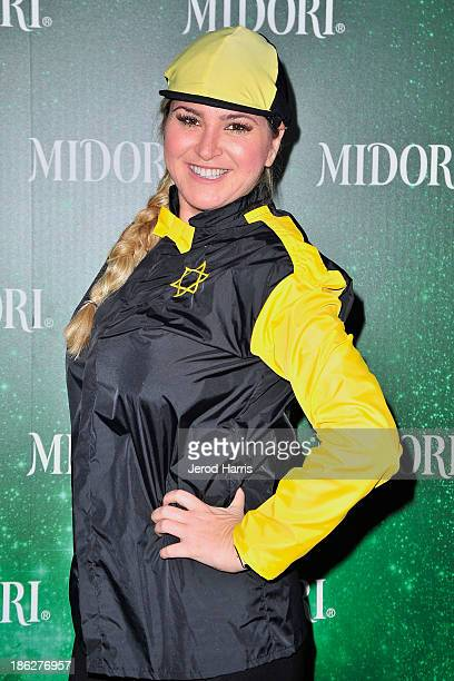Josie Goldberg arrives at the 3rd Annual Midori Green Halloween at Bootsy Bellows on October 29 2013 in West Hollywood California