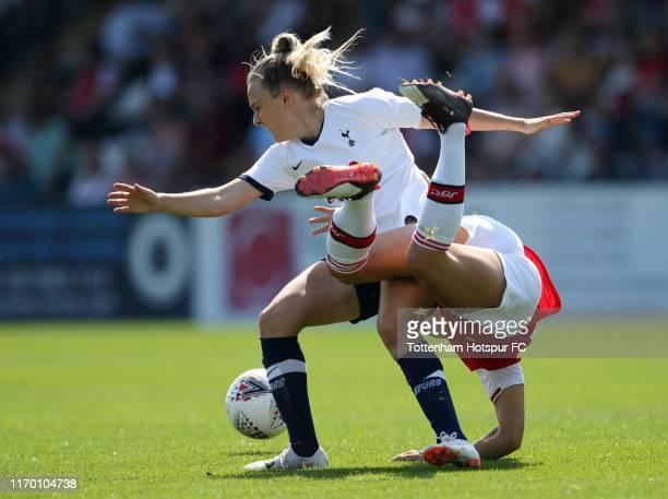 Josie Green of Tottenham Hotspur Women and Katie McCabe of Arsenal Women during the pre season friendly between Arsenal Women and Tottenham Hotspur...